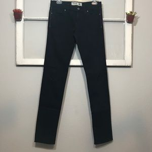 PINK VICTORIA'S SECRET Black Skinny Jeans 7 Long